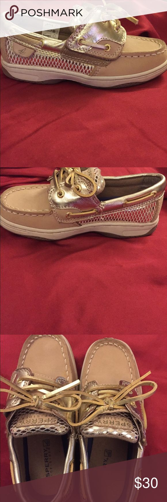 EUC Sherry Shoes These shoes are in awesome condition. My daughter wore them only twice. I'm sad to the them go because they are so cute. Sperry Top-Sider Shoes