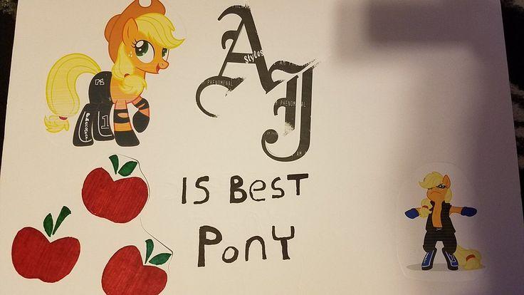 #1351362 - aj styles, applejack, artist:edgeworth87, artist:nemovonsilver, best pony, blackletter, poster, royal rumble, safe, sign, wwe - Derpibooru - My Little Pony: Friendship is Magic Imageboard