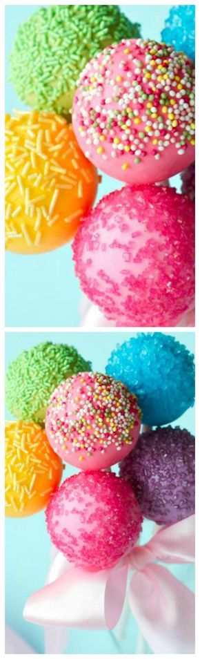 Easy Cake Pop Recipe ~ You can make them to match any party theme!