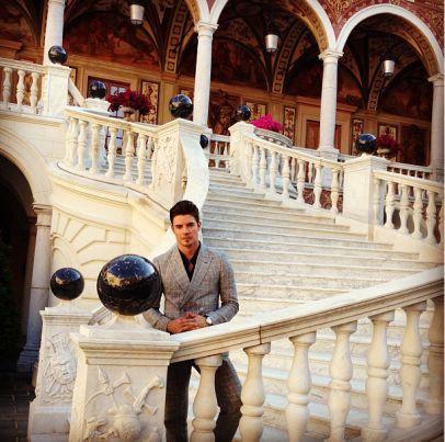 Josh Henderson at the Prince's Palace of Monaco
