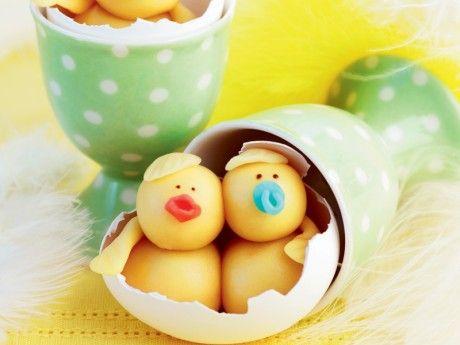 Cute marzipan baby chicks