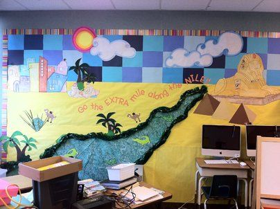 River Nile Display, classroom display, class display, Egypt, history, pyramid, Nile, Pharaoh, River Nile, Early Years (EYFS), KS1 & KS2 Primary Resources