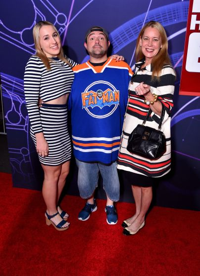 "Los Angeles Premiere Of Walt Disney Animation Studios' ""Big Hero 6"" - Red Carpet, Kevin Smith with wife Jennifer Schwalbach Smith & daughter Harley Quinn smith"