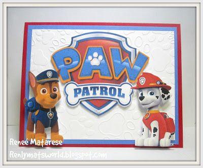 Renlymat's World: Paw Patrol birthday card