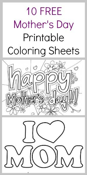 10 FREE Mother's Day Coloring Sheets