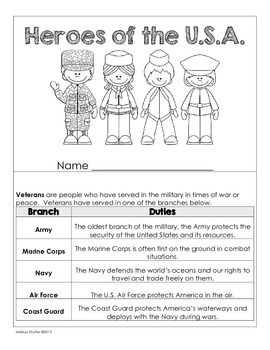 VETERANS DAY MINI BOOK FREEBIE FOR GRADES 3-5 - TeachersPayTeachers.com