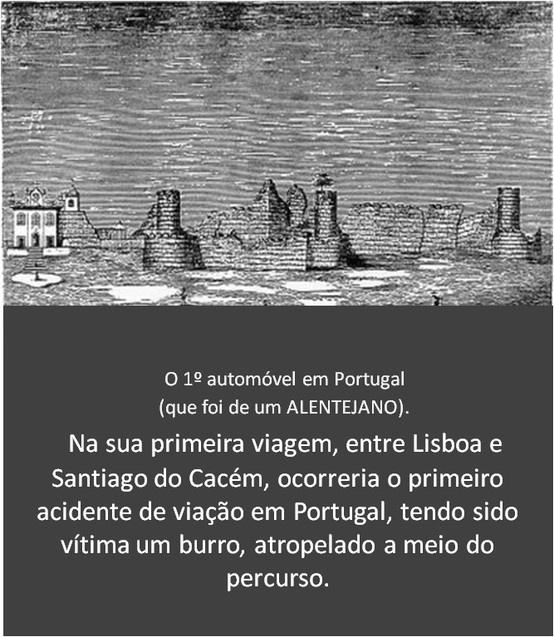 O primeiro automóvel de Portugal