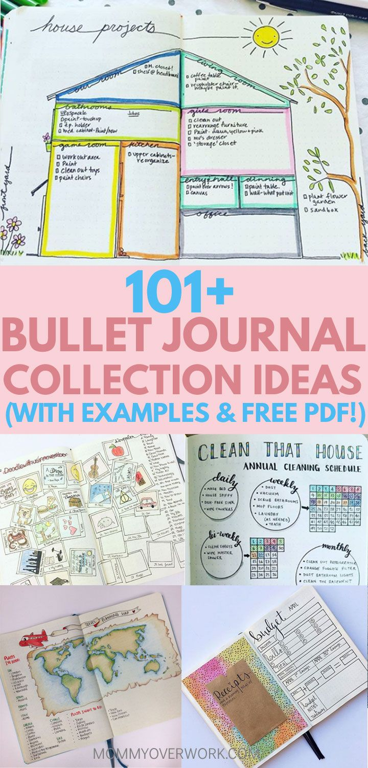 Wow! Such a great list of bullet journal collection ideas! Lots of pretty examples of spreads and layouts to help me with the setup of my pages. Great inspiration! Going to try the weekly spread. Loved the font tips too! Definitely pinning! #bulletjournal #bulletjournallove #bulletjournaladdict #bulletjournaljunkie #bujolove #bujoinspire #bujoinspiration #bujocommunity