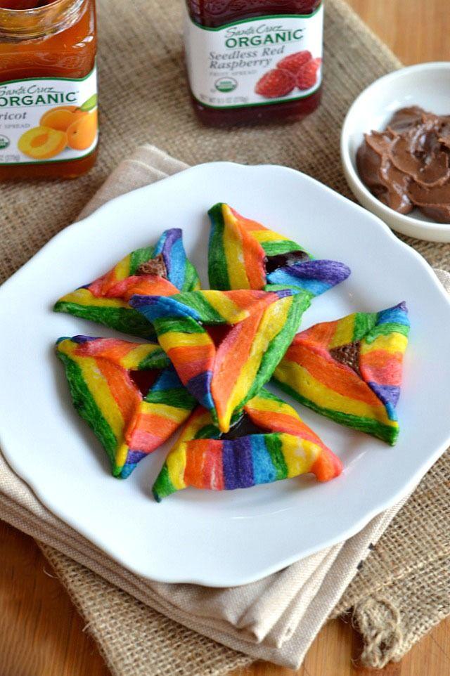 rainbow hamantaschen look beautiful very decorative not worth the effort on a regular
