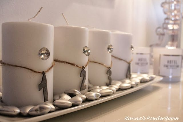 Advent candle Hanna's PowderRoom Blog