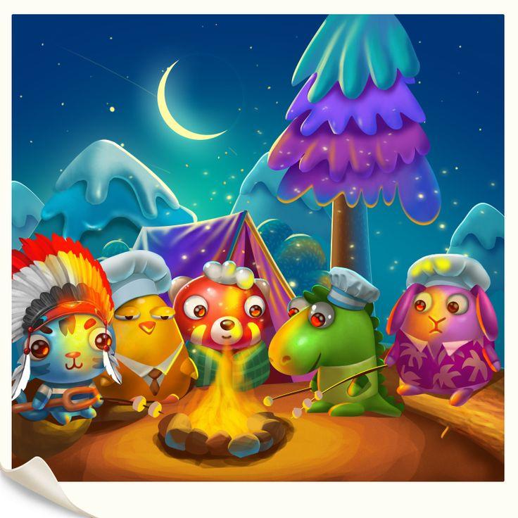 Sweetie Swipe game illustrations. on Behance