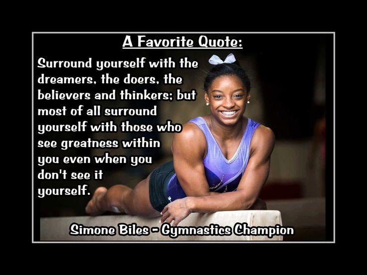 Gymnastics Motivation Simone Biles Gymnast Photo Quote Poster Wall Art Print…