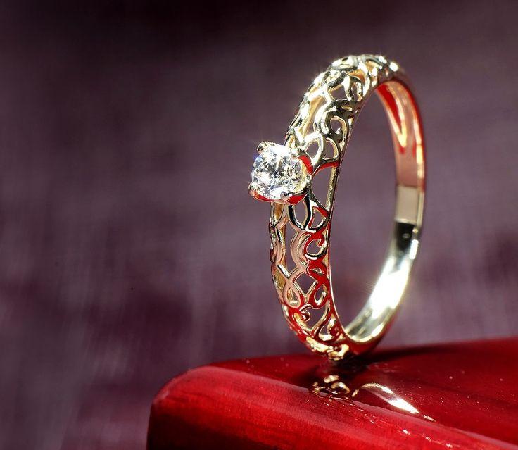 Inel de logodna din aur, cu diamant II Cod produs: I803
