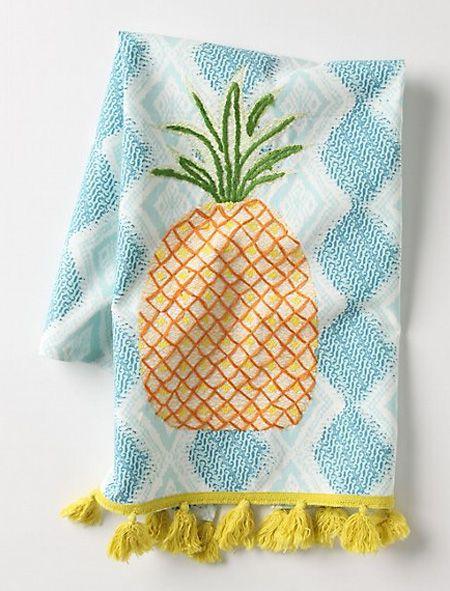 Pineapple tea towel. http://houseandhome.com