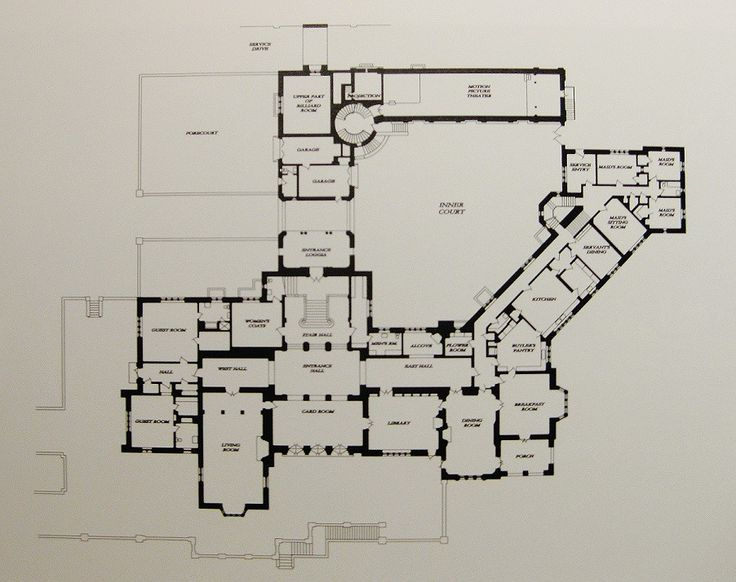 Greystone mansion first floor plan floorplans for Estate blueprints