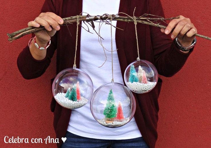 M s de 25 ideas nicas sobre bolas de navidad en pinterest - Bolas navidad transparentes ...
