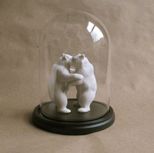Bear Dome! Two bears enter... two bears stay because they are inanimate and that is how they were crafted.