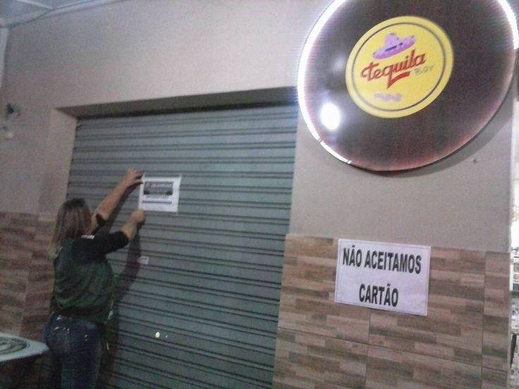 29/05/2015 - Interdição da Vigilância Sanitária em ação conjunta no plantão noturno