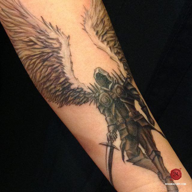 St. Michael the Archangel Forearm Tattoo - SA: Design, Art & Tattoo