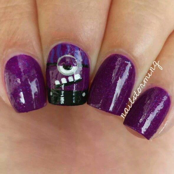 purple minion nails wwwpixsharkcom images galleries