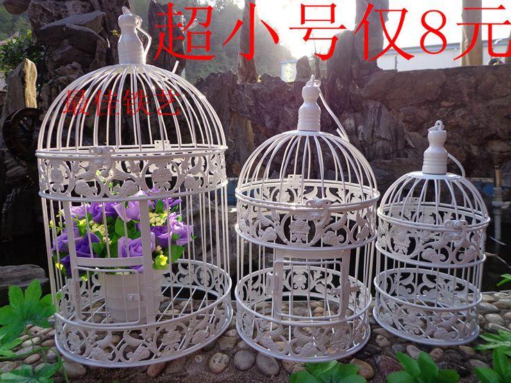 2014 Nueva Llegada Oferta Especial de Metal M Gaiolas Decorativas Moda Hierro para jaula de Pájaro Jaula Decoración de La Boda Props