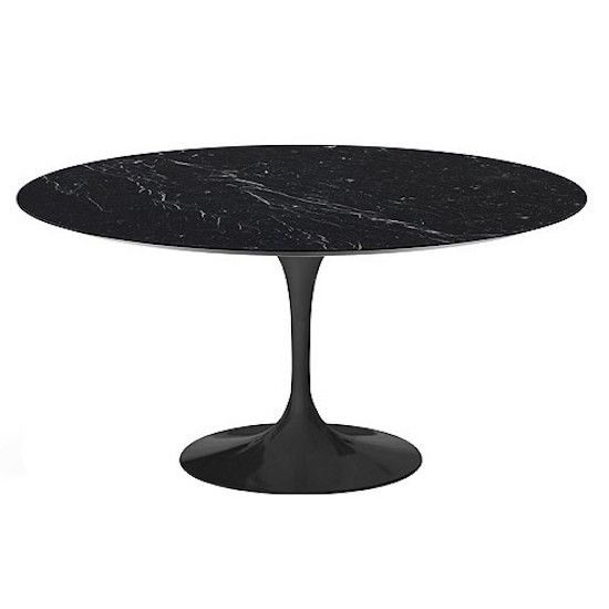 "FLUTE BLACK MARBLE 47"" Flute Round Dining Table"