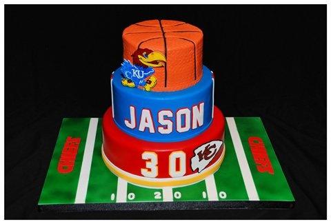football and basketball cake