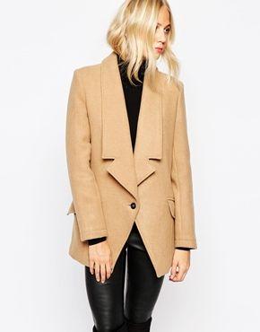 Parka London Alana Tuxedo Wool Coat