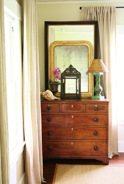 Layered Mirrors.Guest Room, South Guest, Guest Bedrooms, Layered Mirrors, Bedrooms Details, Antiques Mirrors, House, Bedrooms Decor, Chest Of Drawers