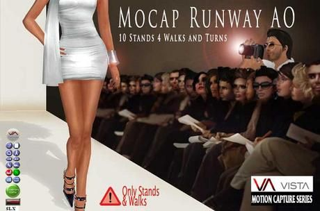 Second Life Marketplace - VISTA ANIMATIONS- MOCAP RUNWAY MODEL AO