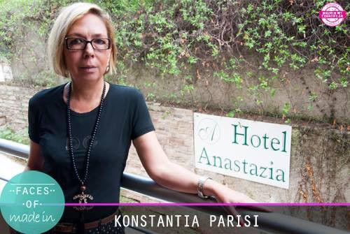 Konstantia Parisi from Anastazia Suites  #FacesOfMadein #FacesOfGreece  #AnastaziaSuites #Drosia #Hotel