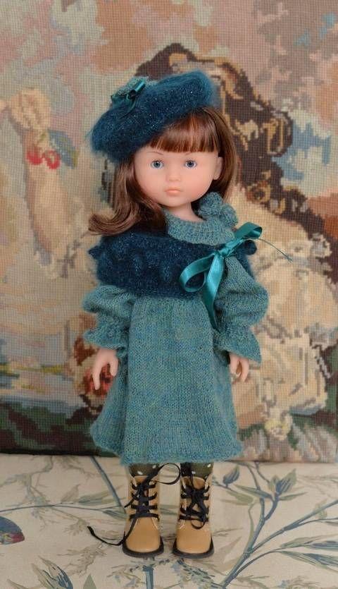 """""""Douceur de Paon"""" Patron de tricot pour poupée de 27 à 32 cm type les Chéries…"""