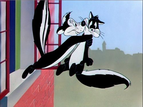 "Looney Tunes (Pepe Le Pew ) I love you Darling.  Come with me to the ""car"" bar (accent from Paris)"