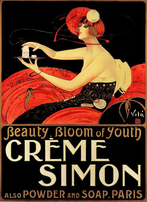 Vintage ad. Creme Simon
