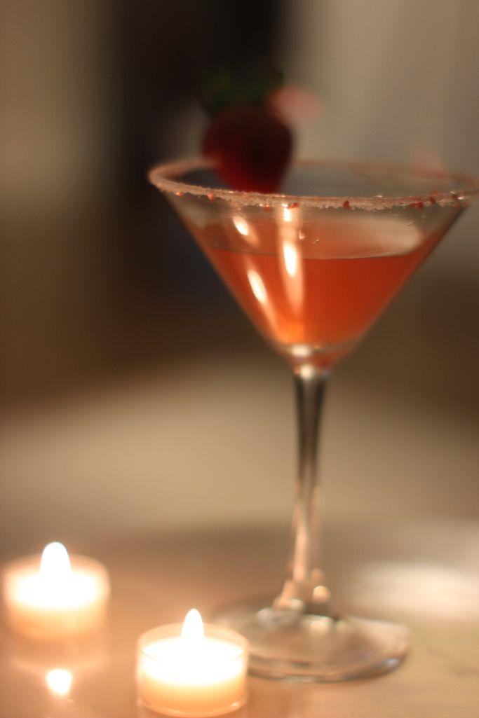 Strawberry lemon drop martini