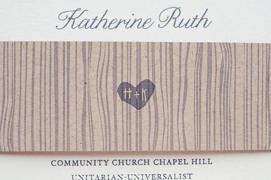 woodgrain wedding invitation hellotenfold 550x366 Kate + Hillarys Rustic Wildflower Wedding Invitations