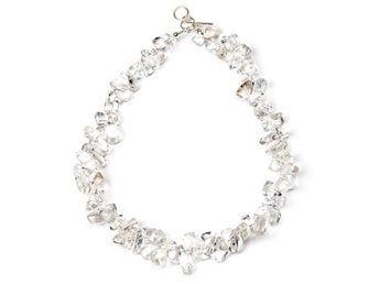Bergkristall AA med silverlås