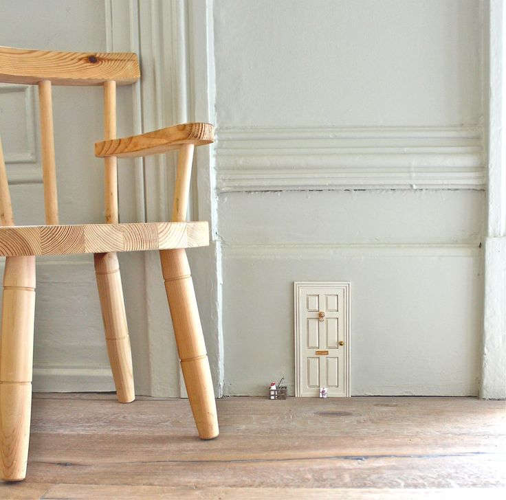 Add tiny dollhouse doors to your woodwork at home to create the impression of fairies or pixies living in your house - kids are awestruck when they discovered these!