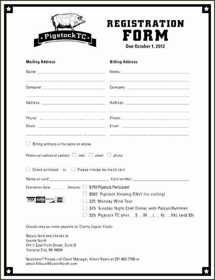 Registration Form Template Word Original 10 Event Registration