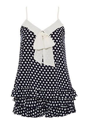 Image for Navy Spot Shortie Set from Peter Alexander