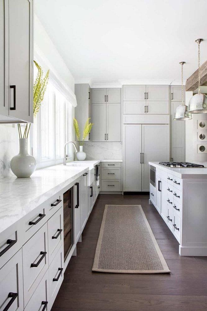 80 Long Narrow Kitchen Ideas Photos In 2020 Light Grey Kitchens Light Gray Cabinets New Kitchen Cabinets