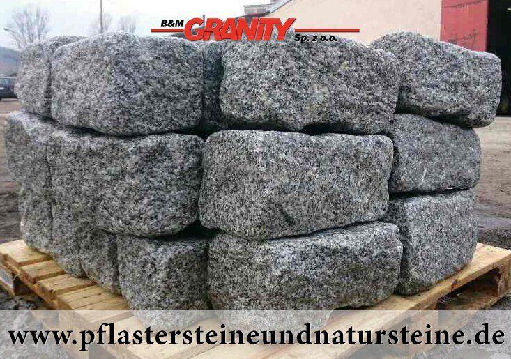 """Firma B&M GRANITY – rustikale, ohne scharfe Kanten, """"veraltete"""", getrommelte Erzeugnissen aus frostbeständigem Granit. Neue Produkte, die speziell, zusätzlich bearbeitet werden, um scharfe Kanten zu eliminieren. http://www.pflastersteineundnatursteine.de/fotogalerie/mauersteine/"""