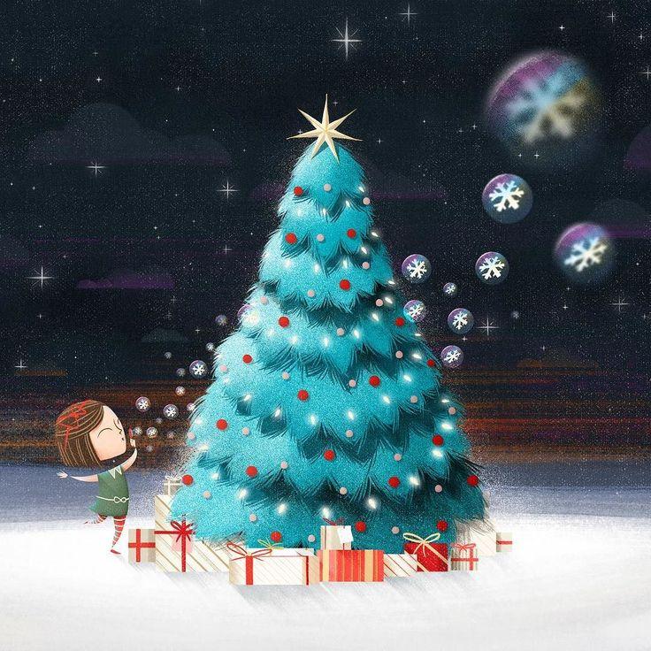 Mais detalhes da animação do filme de Natal do Park Shopping Barigüi feito no final do ano passado #natal #shopping #parkshoppingbarigui #ilustra #animacao #filme #snow #christmas #illustration #animation #motiongraphics