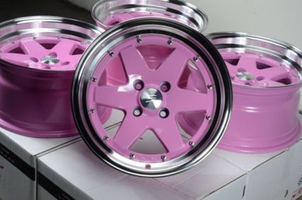 pink rims for cars for sale