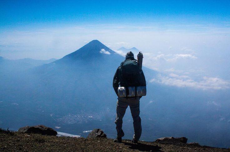 The view from Acatenango, Guatemala