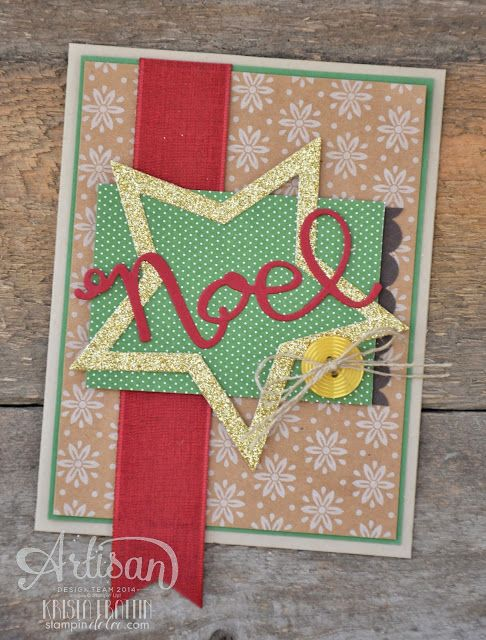 i love the warm traditional colors of this christmas card! - krista frattin