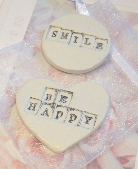 Set of 2 Fridge Magnets Clay Magnets Inspirational Birthday