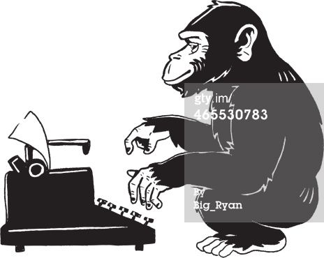 Blog - this is kitchy.... Vector Art : monkey type writer