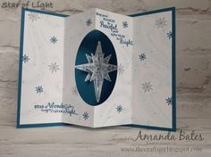 The Craft Spa - Stampin' Up! UK independent demonstrator : Star of Light Tunnel Fold Card & Tutorial