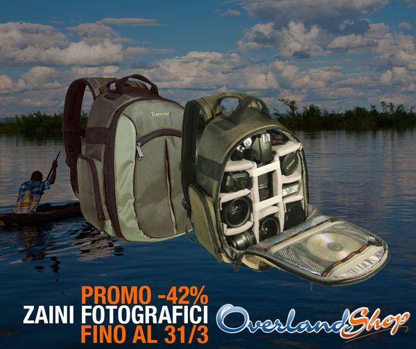 #PROMO -42% su ZAINI e BORSE FOTOGRAFICHE di Overland Shop prorogata http://bit.ly/1AErz72  per viaggi #Overland!